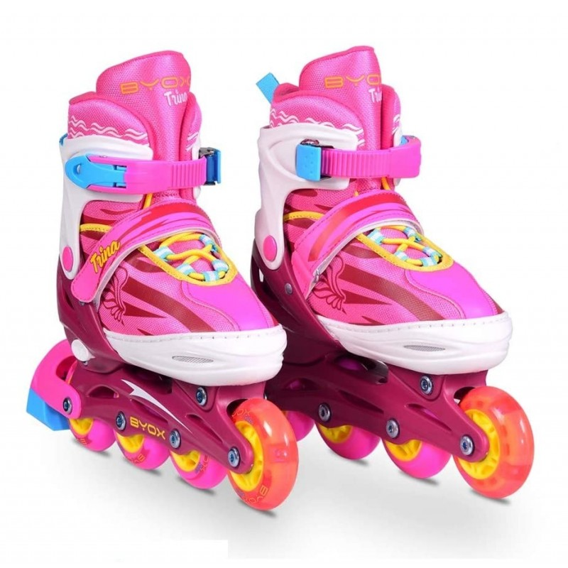 BYOX ΠΑΤΙΝΙΑ ROLLER INLINE SKATES TRINA 3σε1 34-37 104030