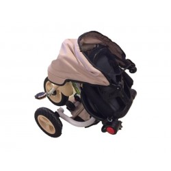 FAMILY KBC TRICYCLE BICYCLE WITH TENT LUXURY No9903 BEIGE